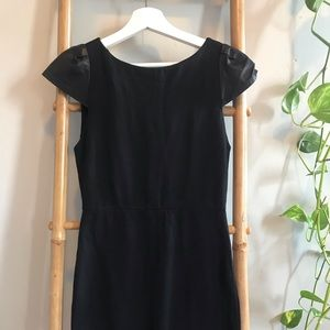Alice and Olivia Black leather shoulder Dress